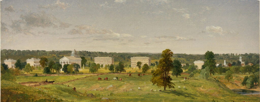 Jasper Cropsey's 1855 U-M landscape was the definitive view of campus for years.